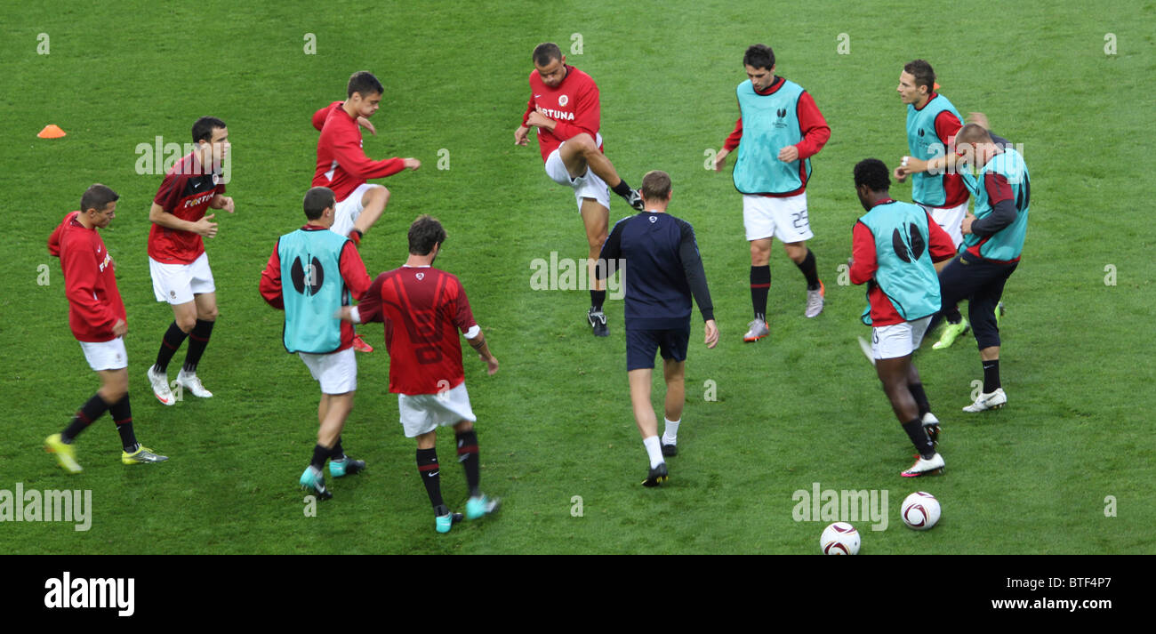 Training before the Sparta Prague v Palermo match 15th September 2010 - Stock Image