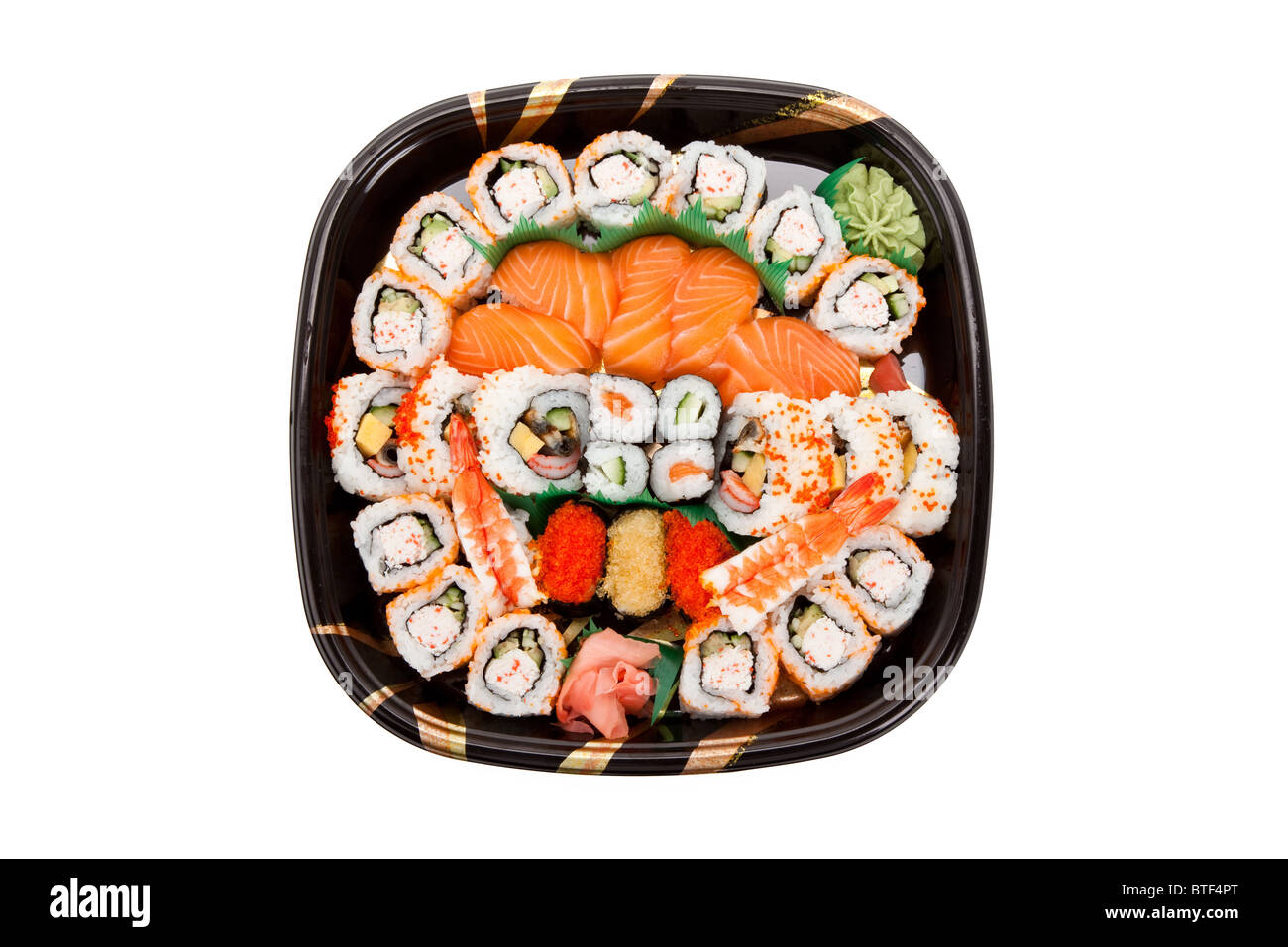 SuShi Tray with white background - Stock Image