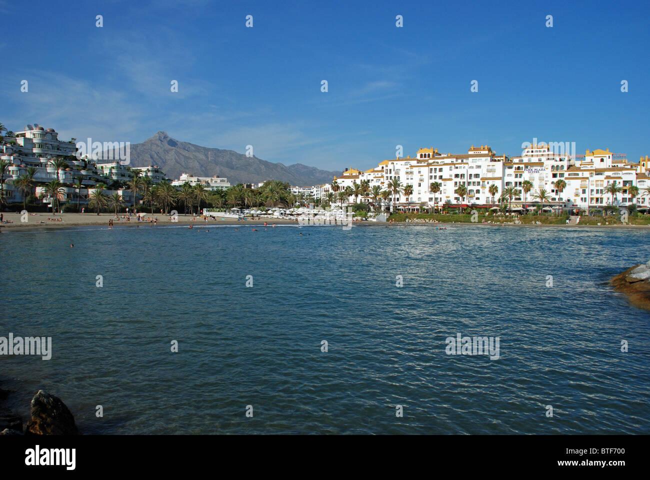 Puerto banus beach marbella stock photos puerto banus for Puerto banus costa del sol