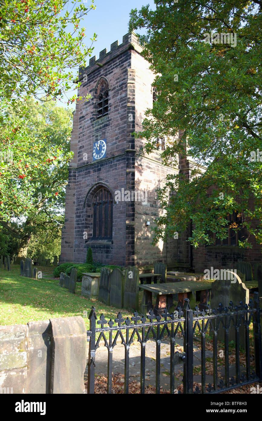All Saints Church, Daresbury, Cheshire - Stock Image