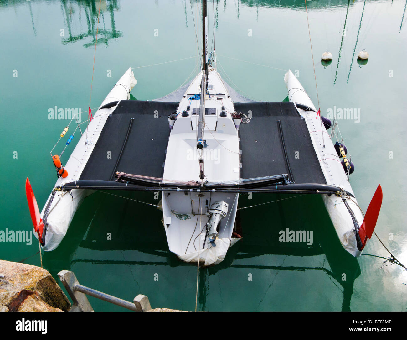 Catamaran moored - Stock Image