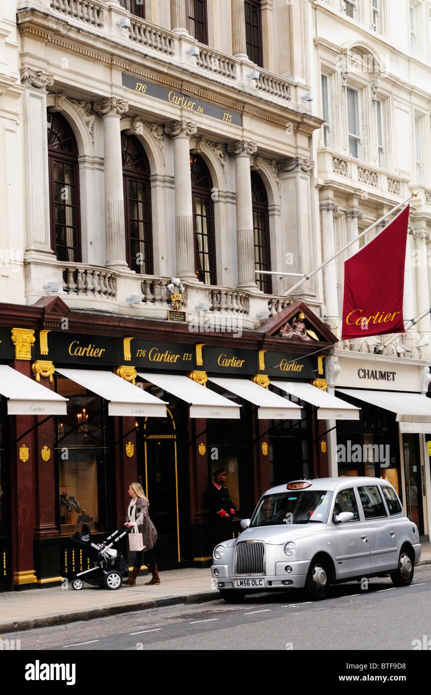 Cartier Jewellers Shop, Bond Street, Mayfair, London, England, UK - Stock Image