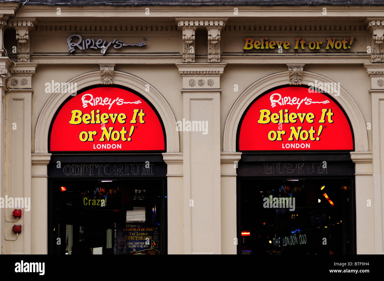 Ripleys Believe it or Not Odditorium Museum, Piccadilly Circus, London, England, UK - Stock Image
