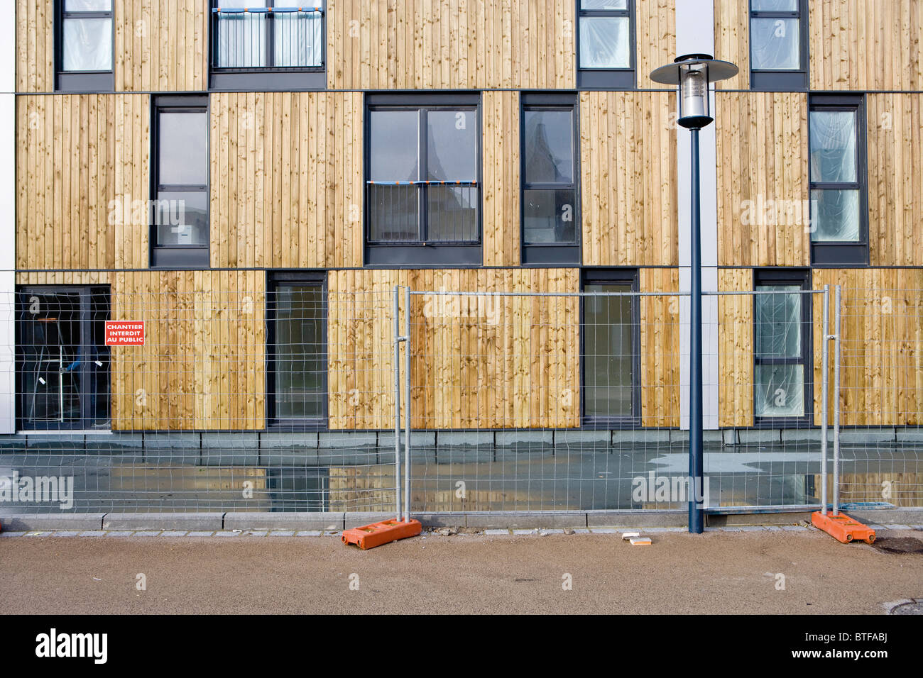 Apartment building under construction - Stock Image