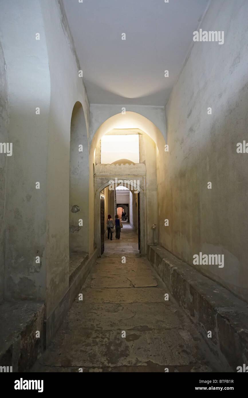 Istanbul Topkapi palace Harem coridoor - Stock Image