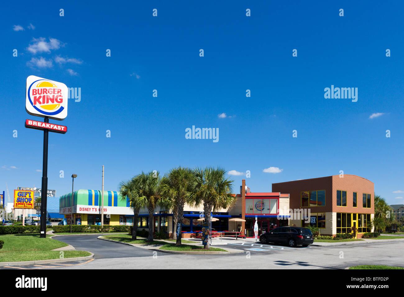 Burger King Fast Food Restaurant On International Drive
