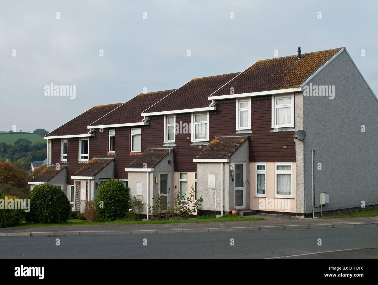 council housing in lancashire, uk - Stock Image