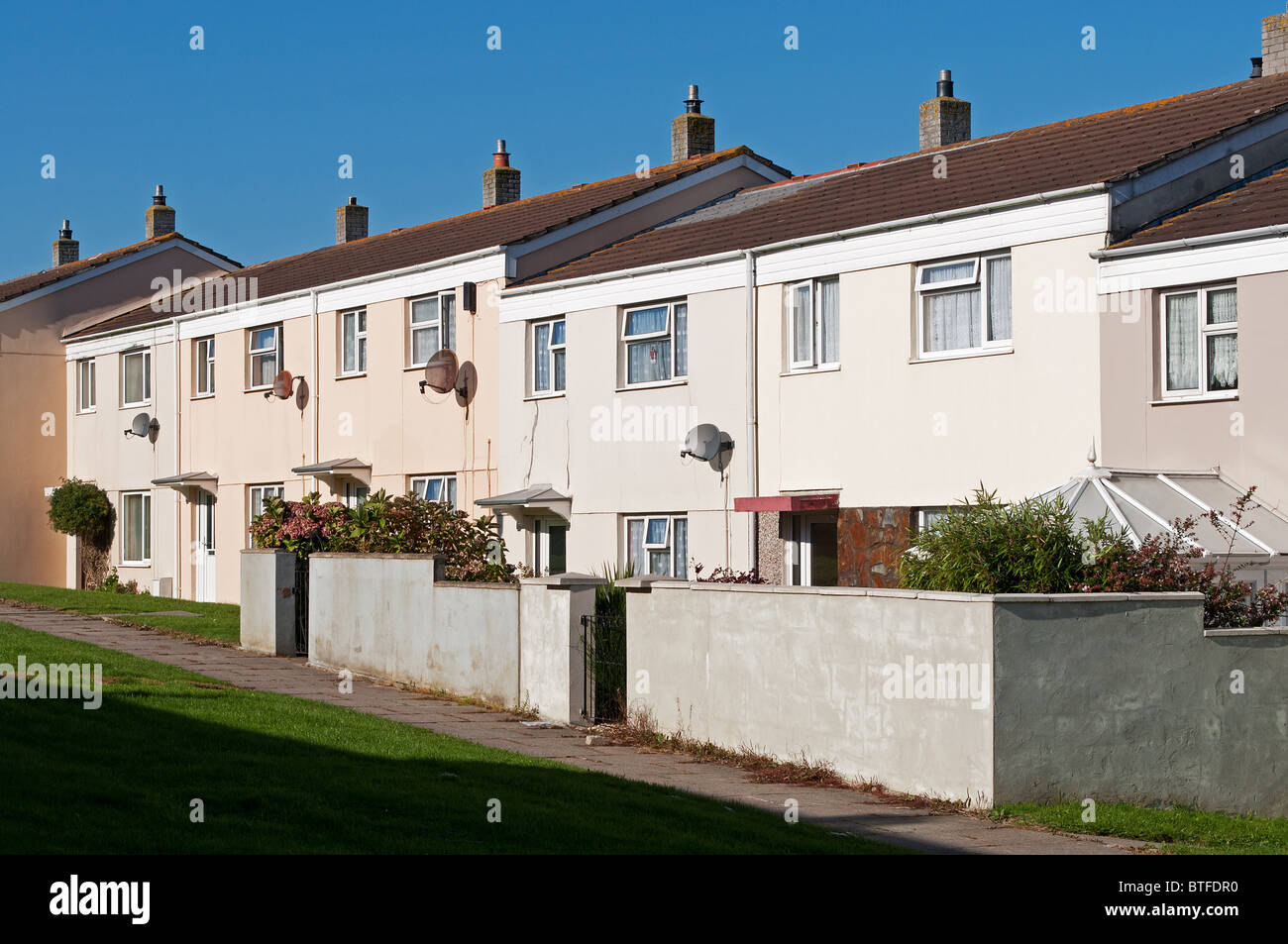 Council houses in Kirkby near Liverpool, UK Stock Photo