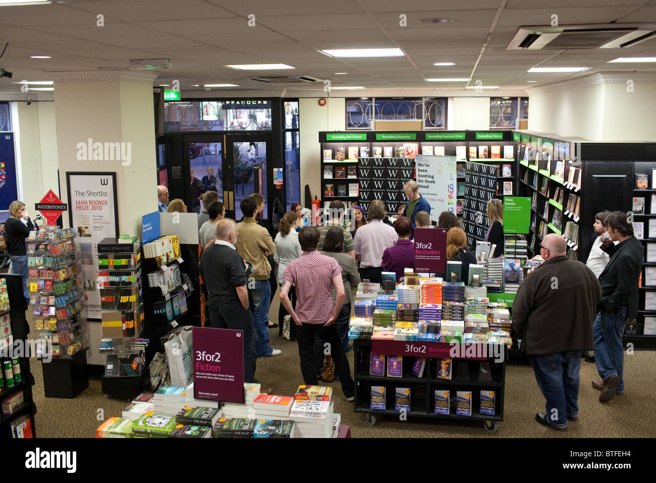 Bright Young Things book series published by Parthian launch at Watersones bookshop in Cardiff, Wales. - Stock Image