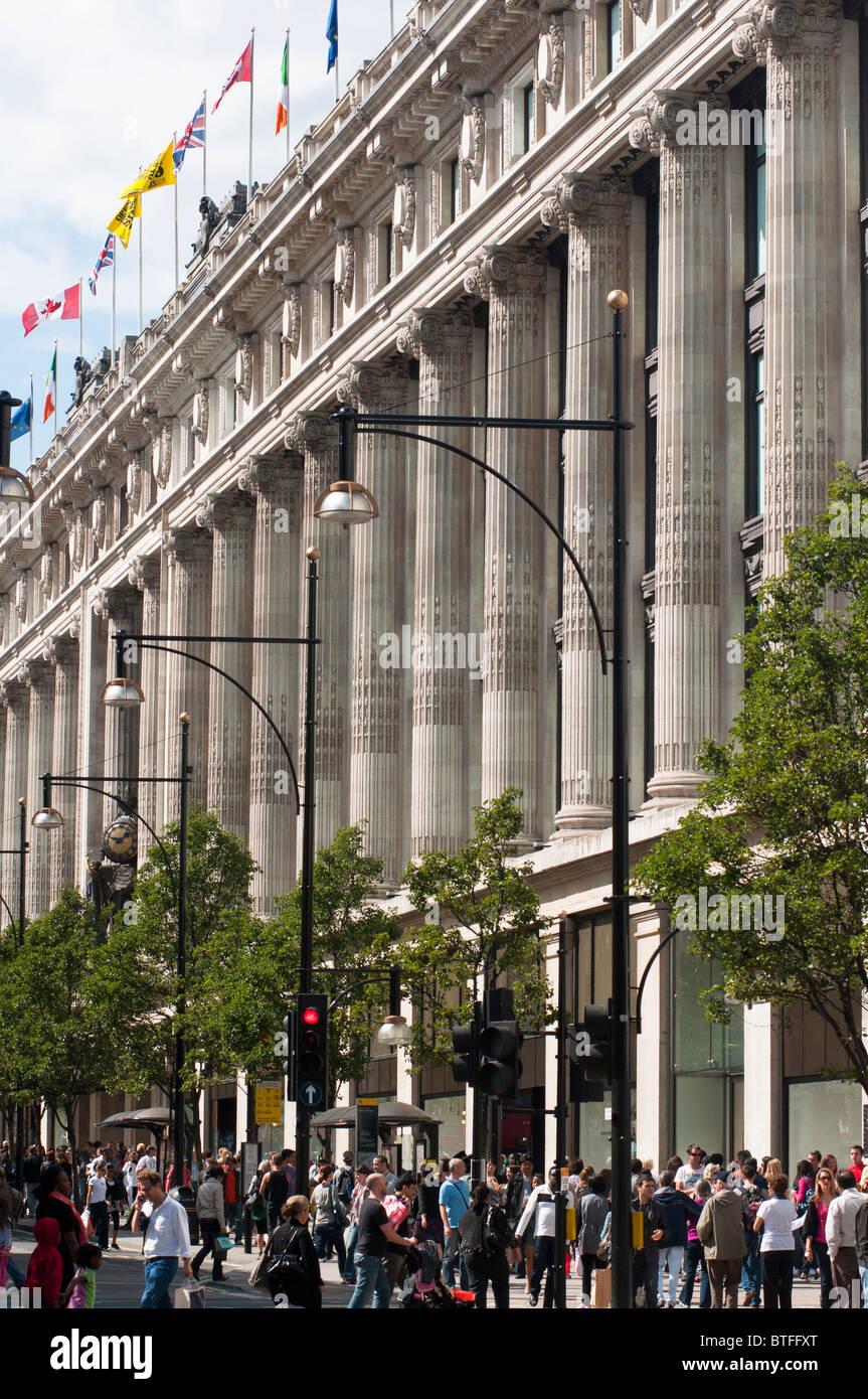 Selfridges department store in Oxford St, London, UK - Stock Image