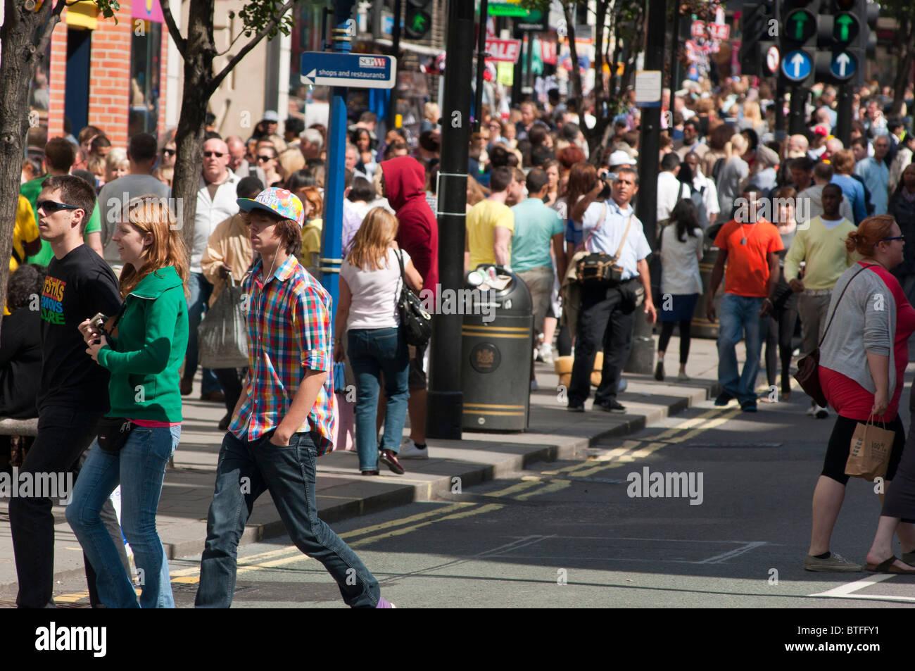 Oxford St. London, UK - Stock Image