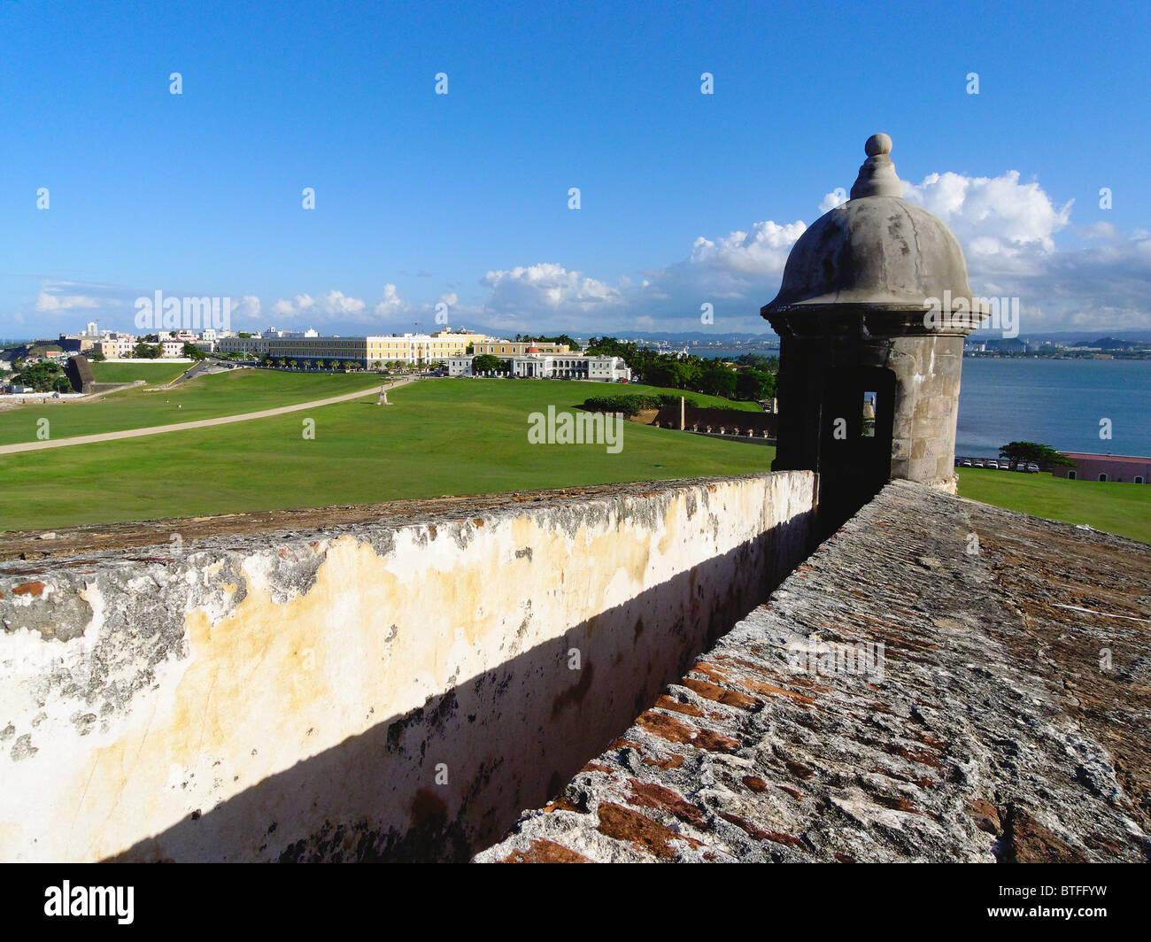 Old San Juan View from El Morro Fort, Puerto Rico - Stock Image