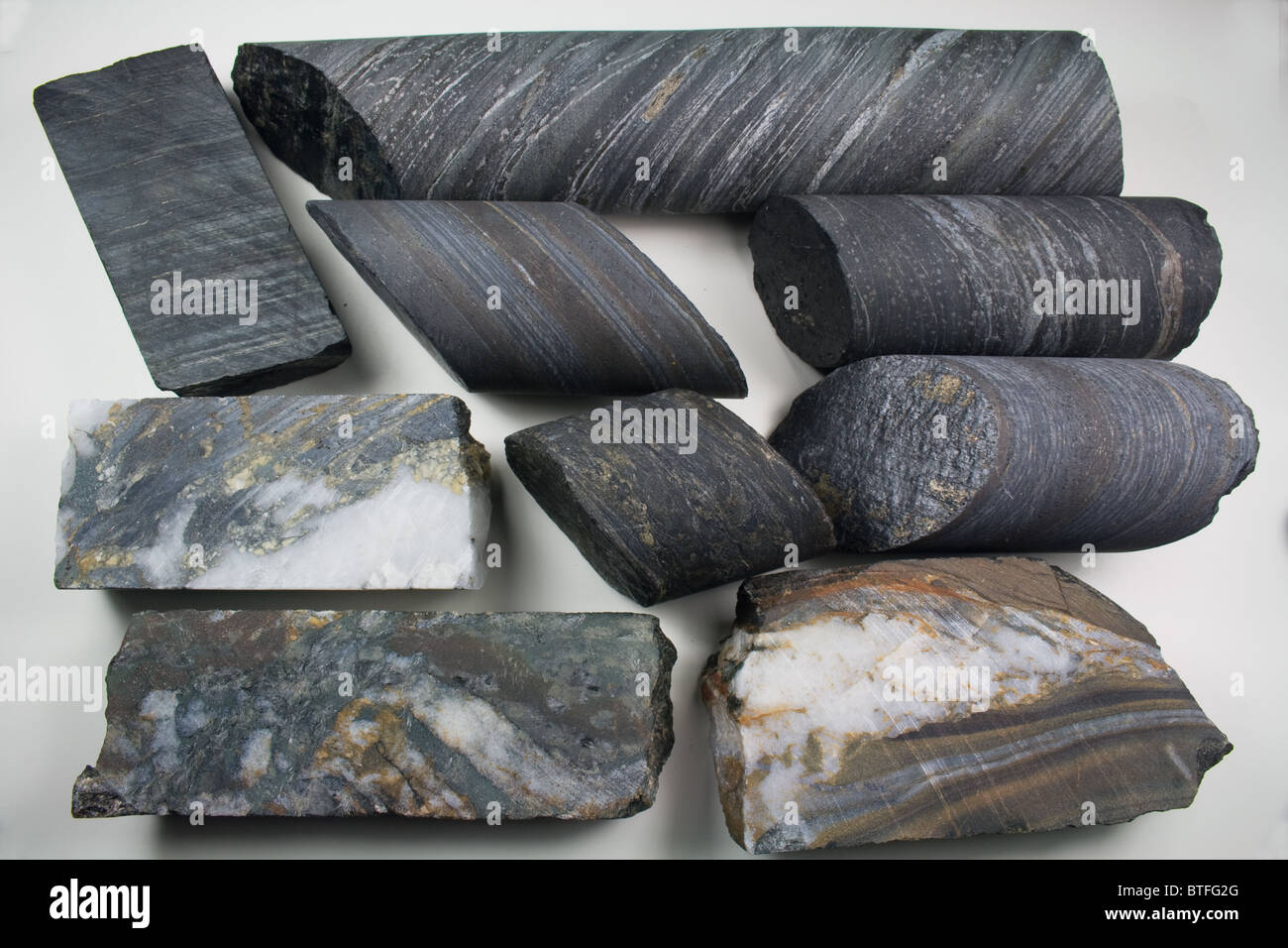 Homestake Gold Mine - Diamond Drill Core Samples - Lead, South Dakota - Stock Image