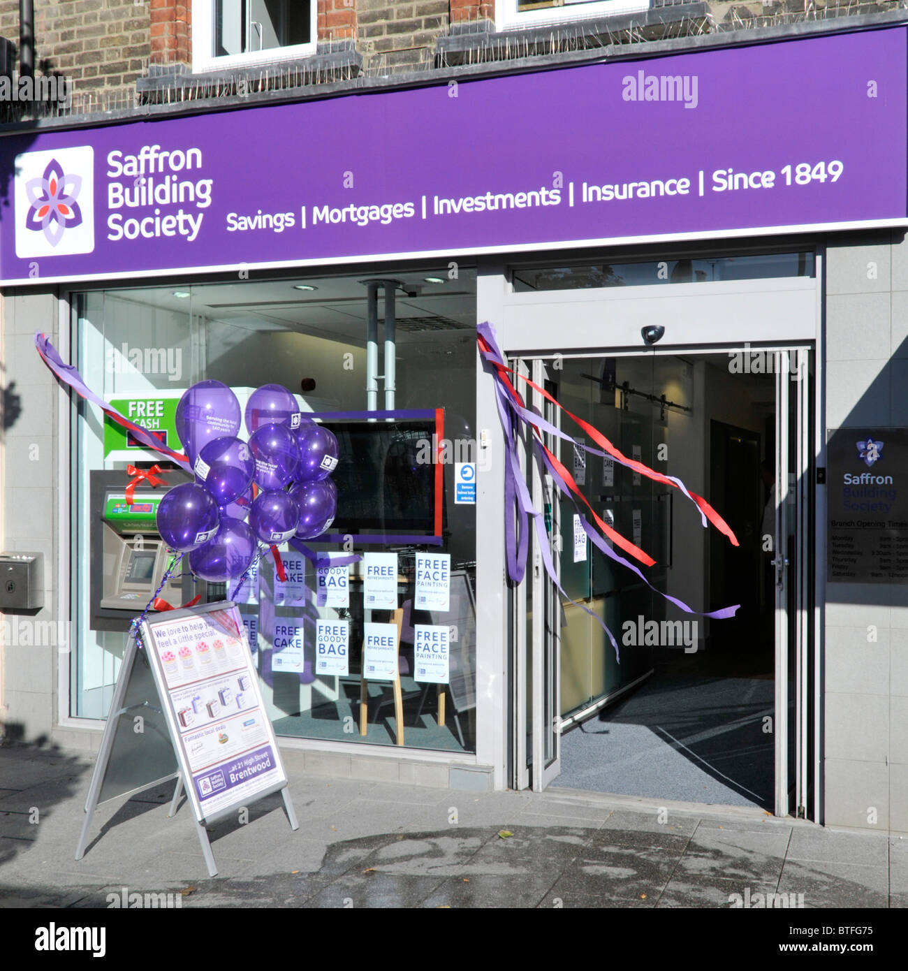 Saffron Building Society branch premises opening event - Stock Image