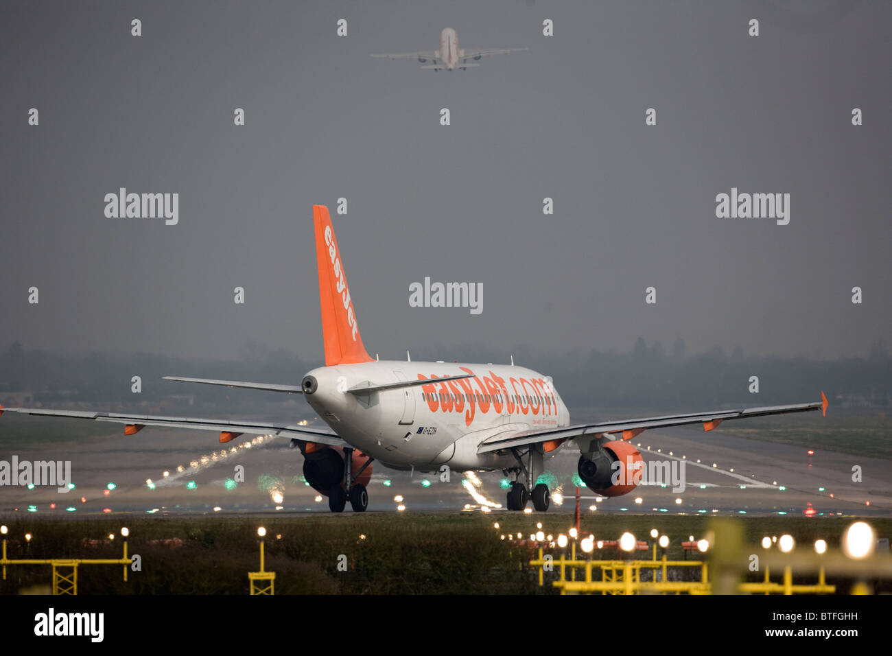 A EasyJet A319 - 111 prepares to take off from Gatwick Airport. Picture by James BoardmanStock Photo