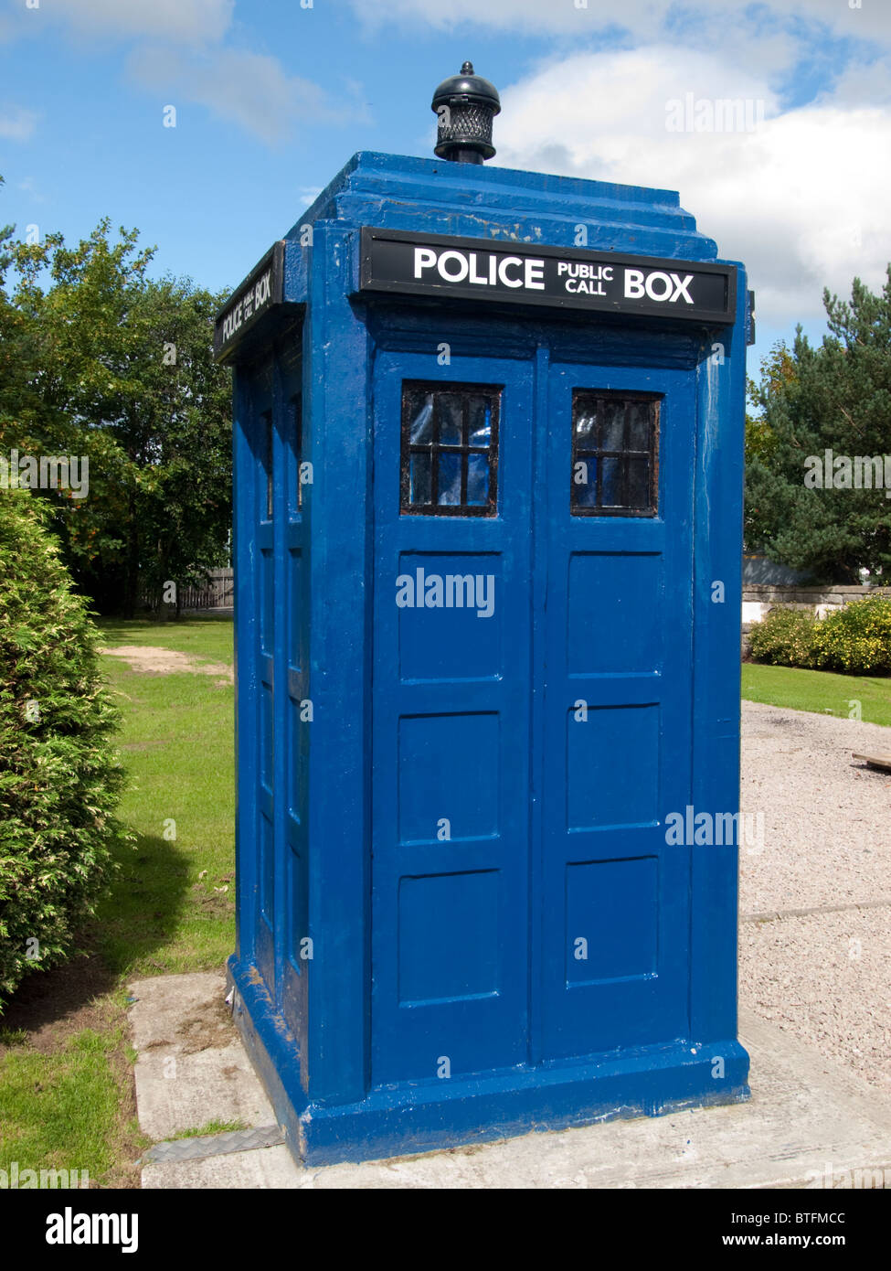 British Police Telephone Box - Stock Image