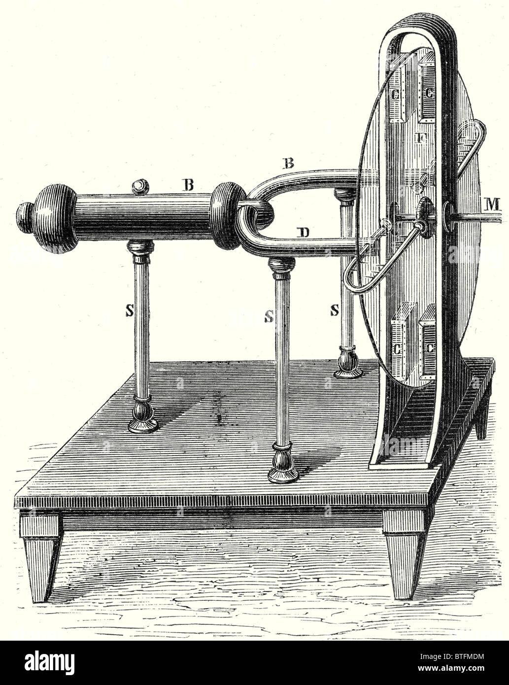 Ramsden's electric machine (1768) - Stock Image