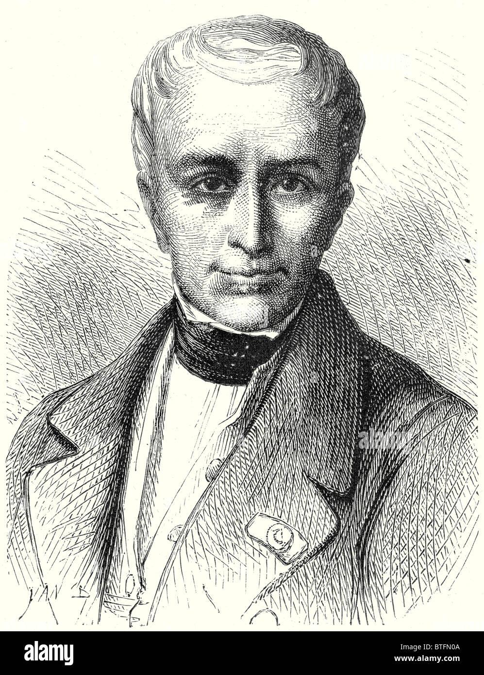 Pierre Simons, creator of the Belgian railways - Stock Image