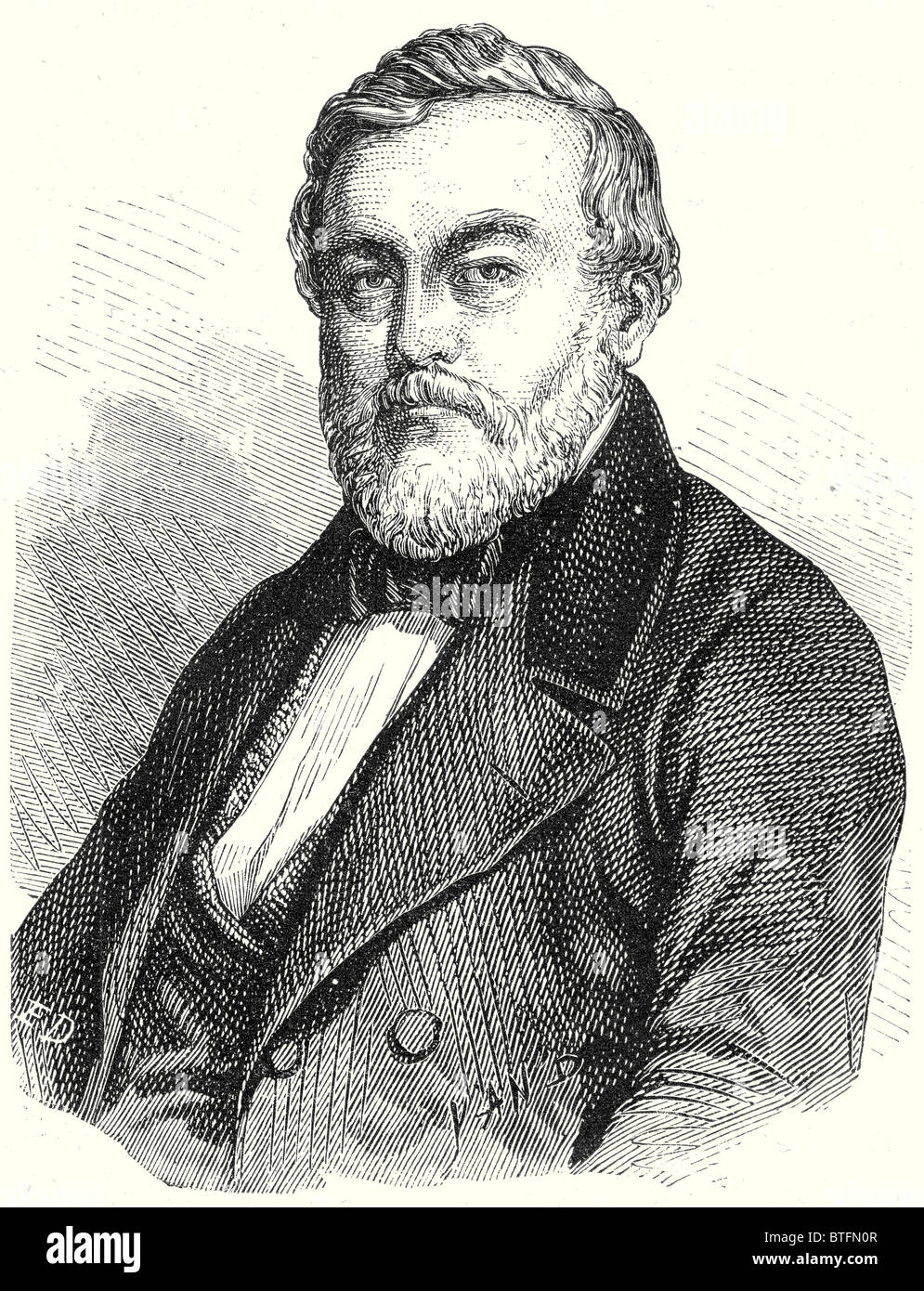 Charles Etzel, creator of the railways of Wurtemberg Stock Photo