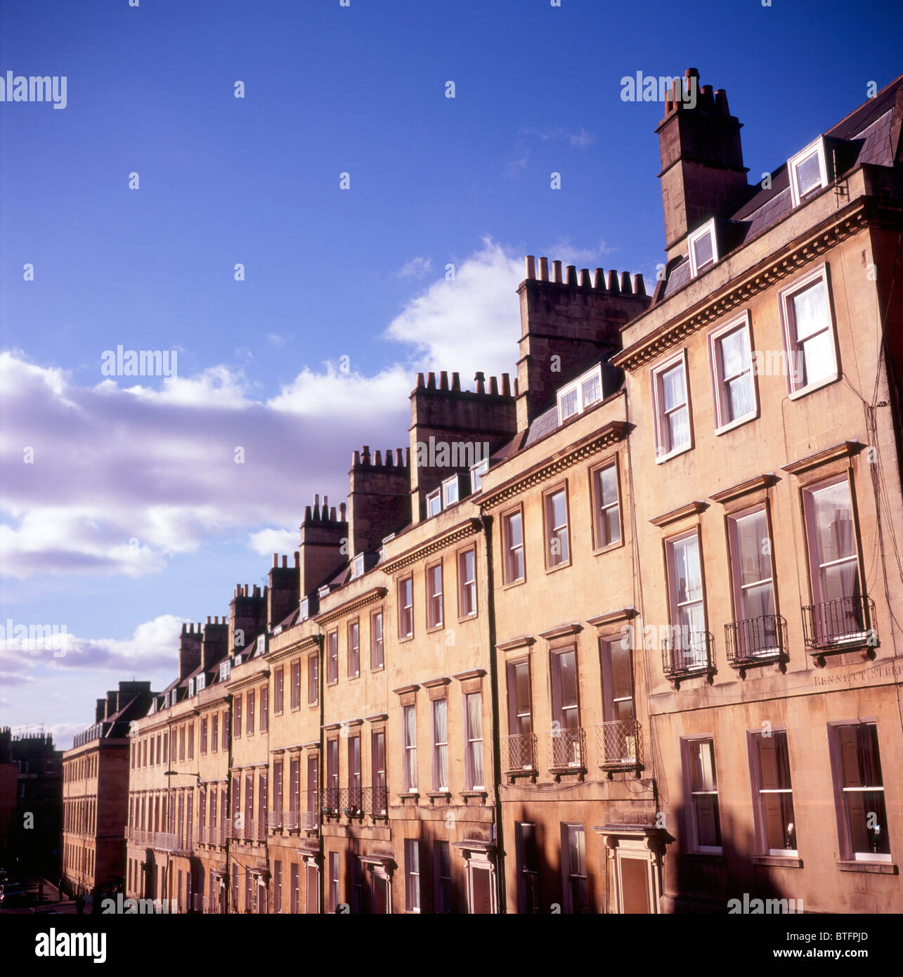 Bennet Street Georgian buildings Bath Somerset England - Stock Image