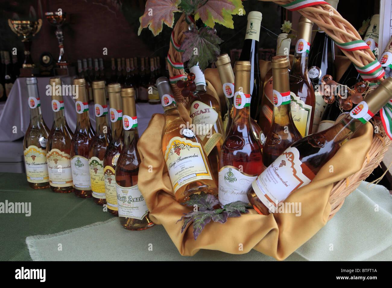 Hungary, Budapest, wine festival, bottles, Stock Photo