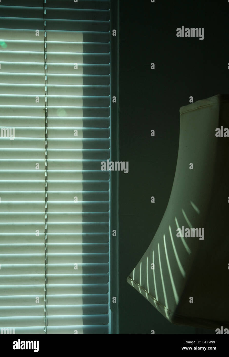interior shade and lamp shade monochromatic, graphic, - Stock Image