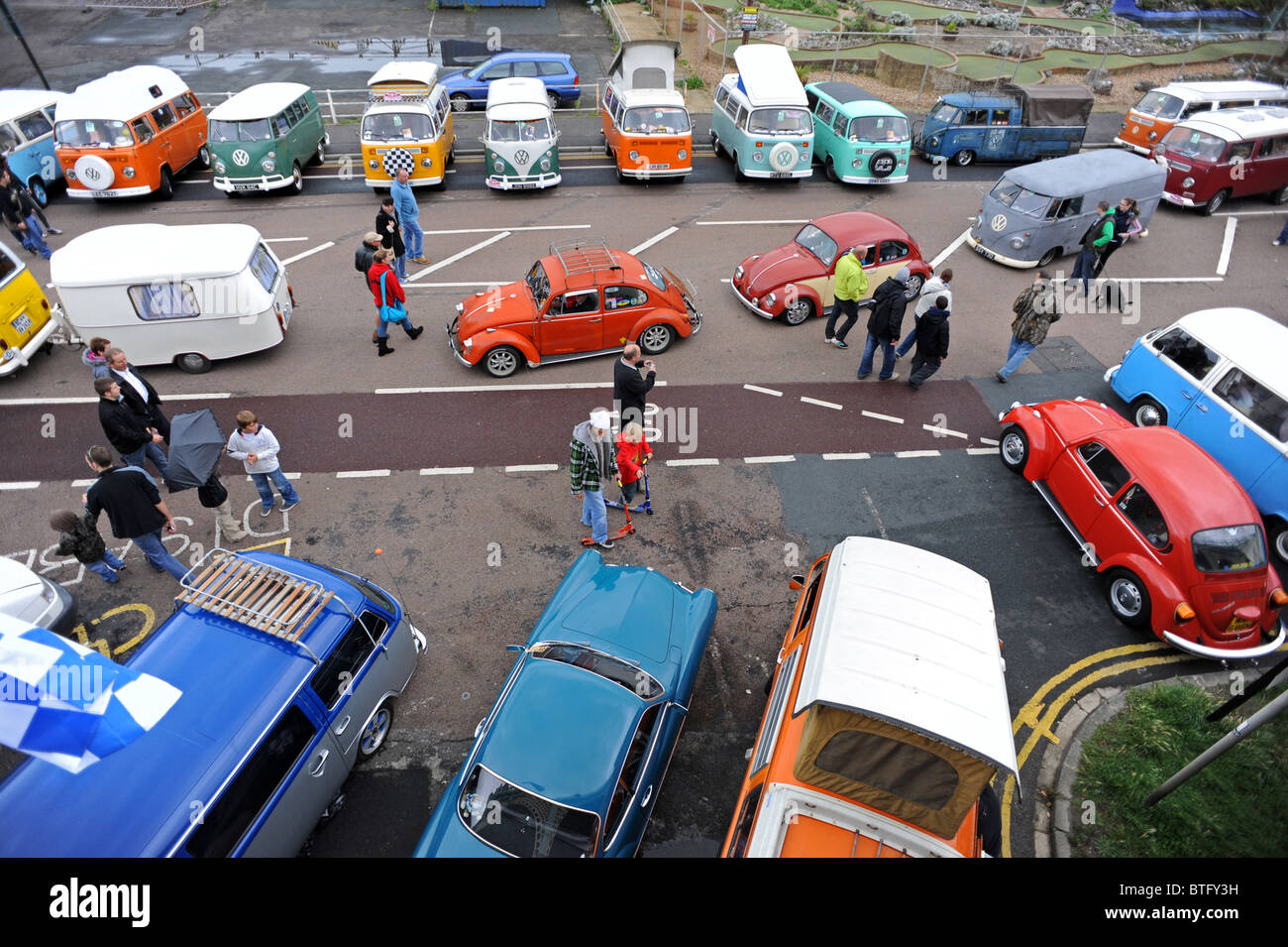 Brighton Breeze 2010 the annual VW rally from London to Brighton's Maderia Drive - Stock Image