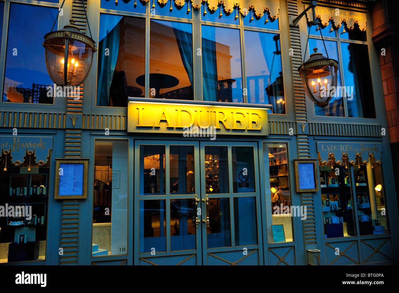 Laduree shop at Harrods, Knightsbridge, London - Stock Image