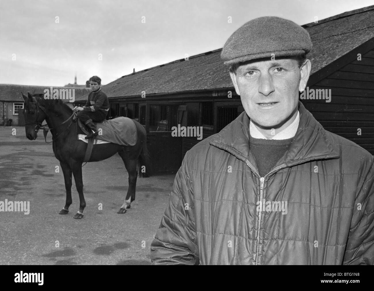 John Dunlop Racehorse Trainer Castle Stables Arundel, West Sussex England. - Stock Image
