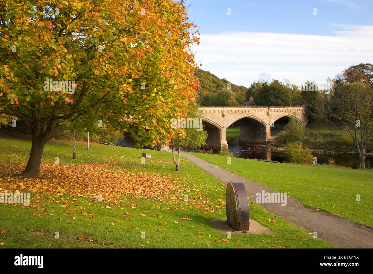 Mercury or Station Bridge from The Batts Richmond North Yorkshire England - Stock Image