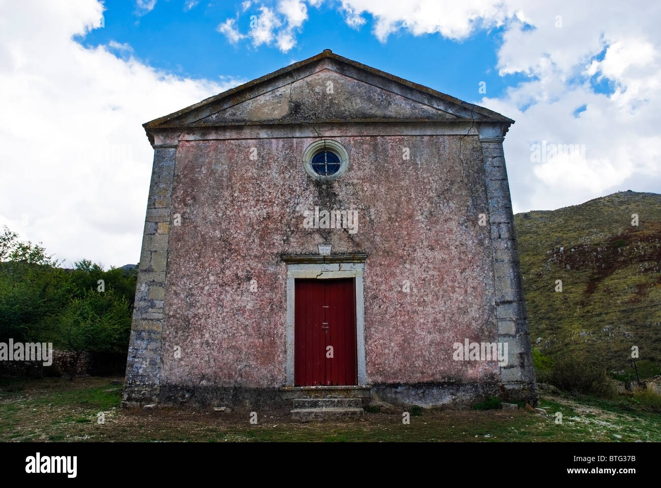 A Church in Old Perithia. - Stock Image