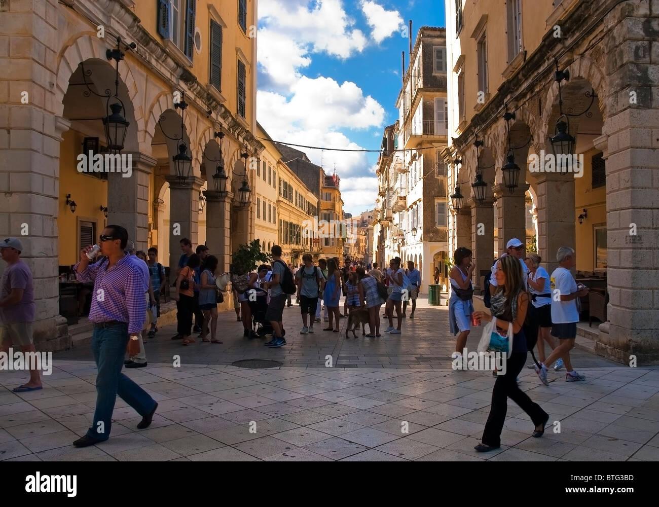 Corfu Town. - Stock Image