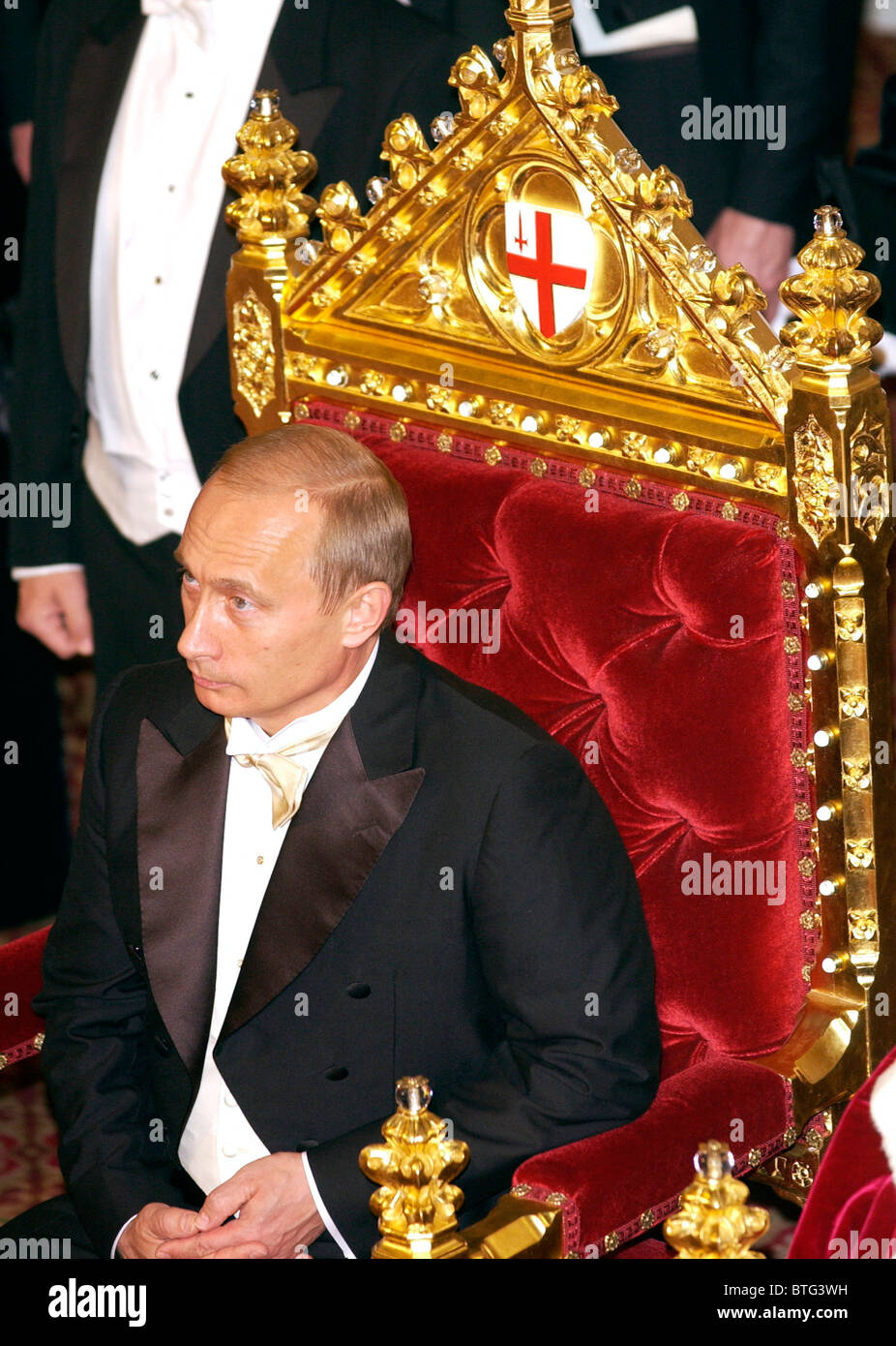 President Vladimir Putin of the Russian Federation during a banquet at Guildhall, part of his official visit to Stock Photo