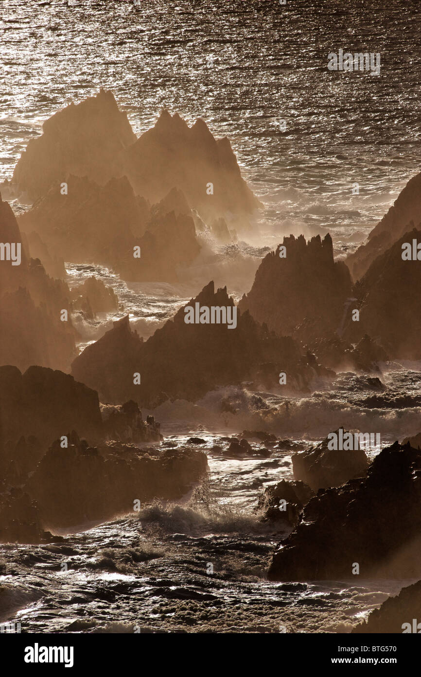 Rocky shore on Malin Head, Inishowen Peninsula, County Donegal, Ulster, Eire. - Stock Image