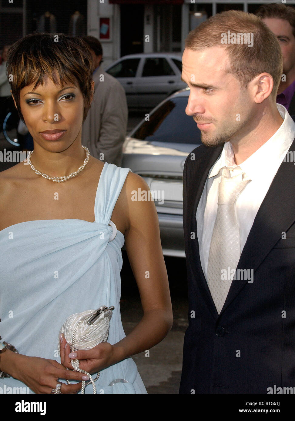 Actor Joseph Fiennes arriving with singer Leonie Casanova? at a Gala sponsored by Giorgio Armani - Stock Image