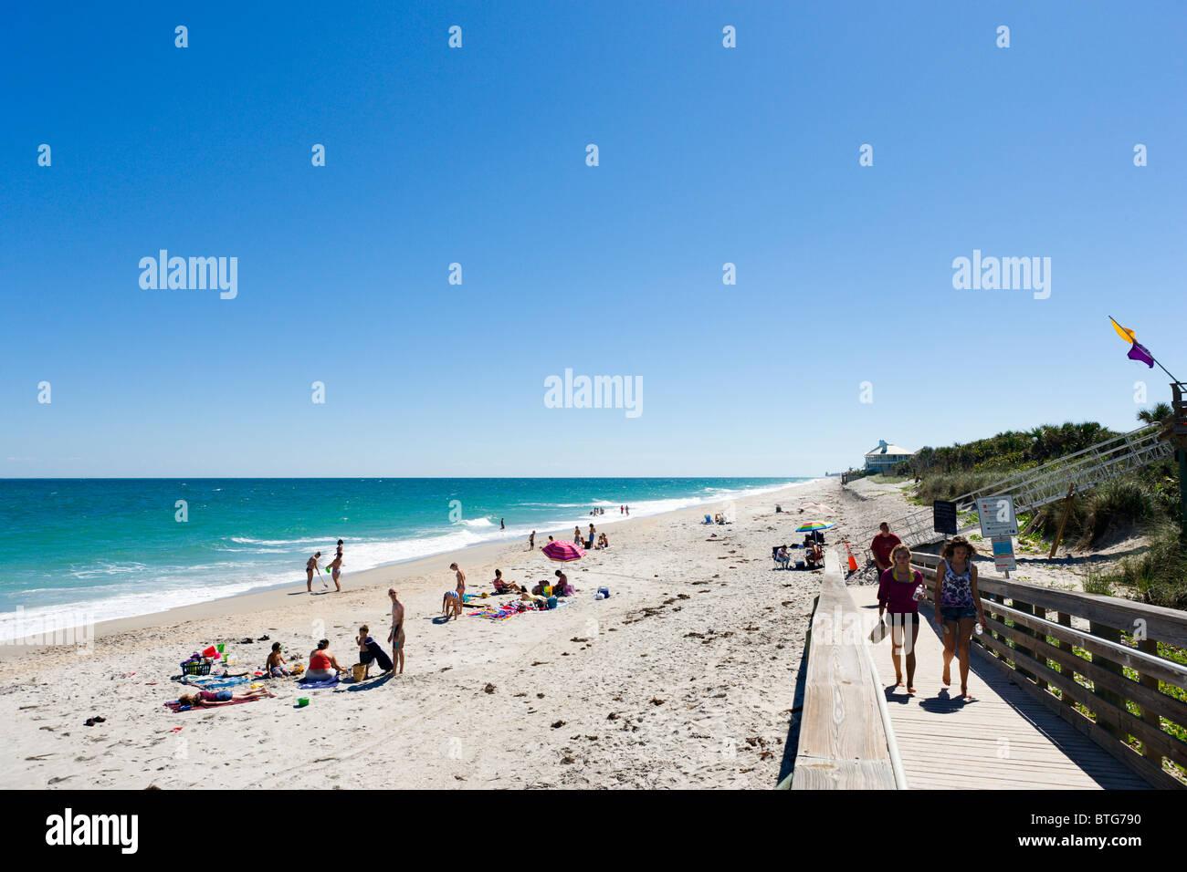 Golden Sands Park beach, north of Vero Beach, Treasure Coast, Florida, USA - Stock Image