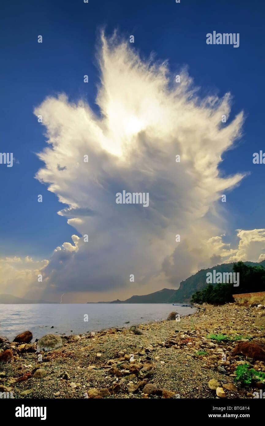 Cumulonimbus Incus Cloud Rising - Stock Image