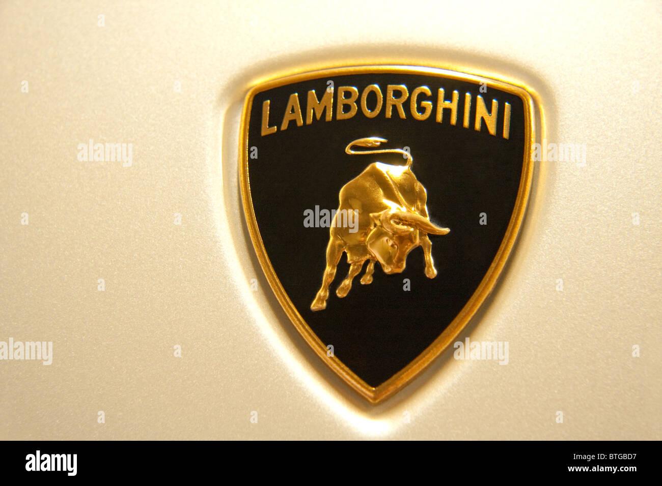Lamborghini's emblem - Stock Image