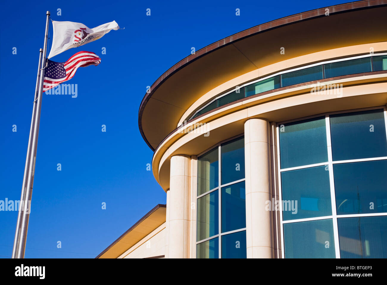 Abraham Lincoln Presidential Library in Springfield - Stock Image