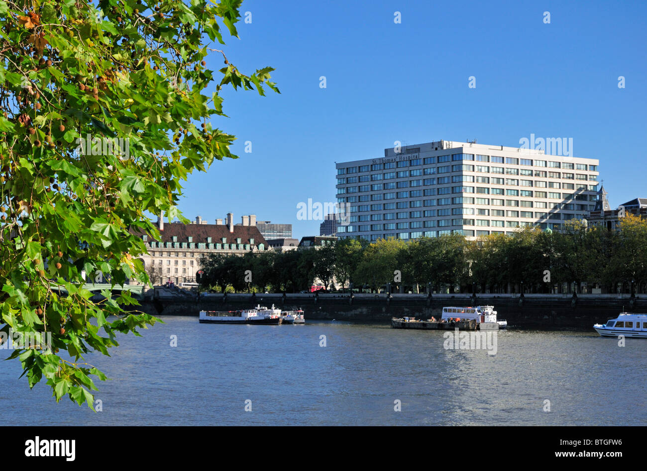 St. Thomas' Hospital, Westminster Bridge Road, London, SE1 7EH, United Kingdom - Stock Image