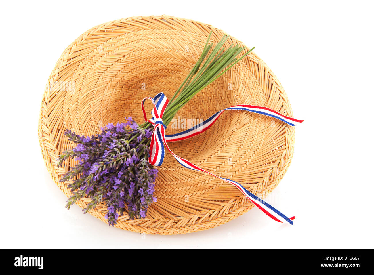 Lavender in French summer - Stock Image