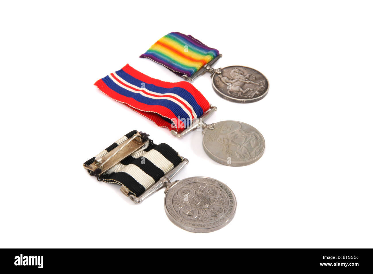British First and Second World War medals - Stock Image