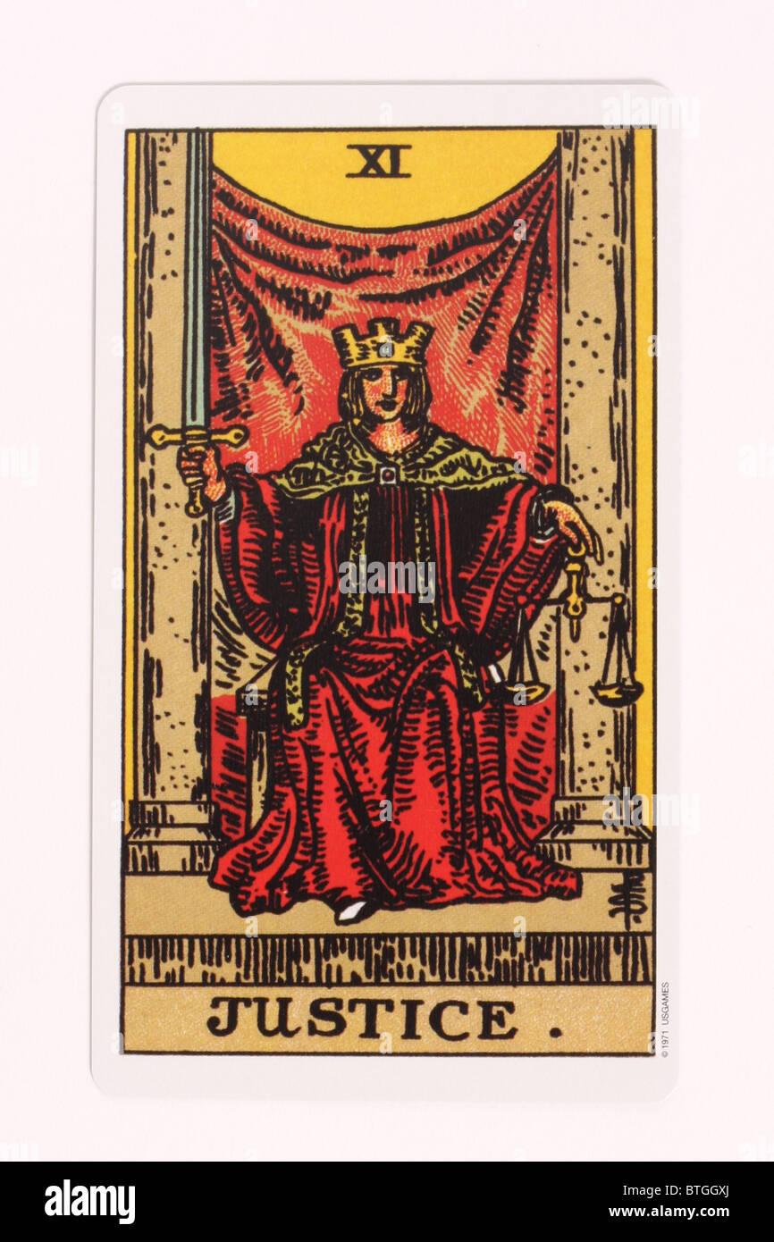 Justice Tarot Card Stock Photos & Justice Tarot Card Stock