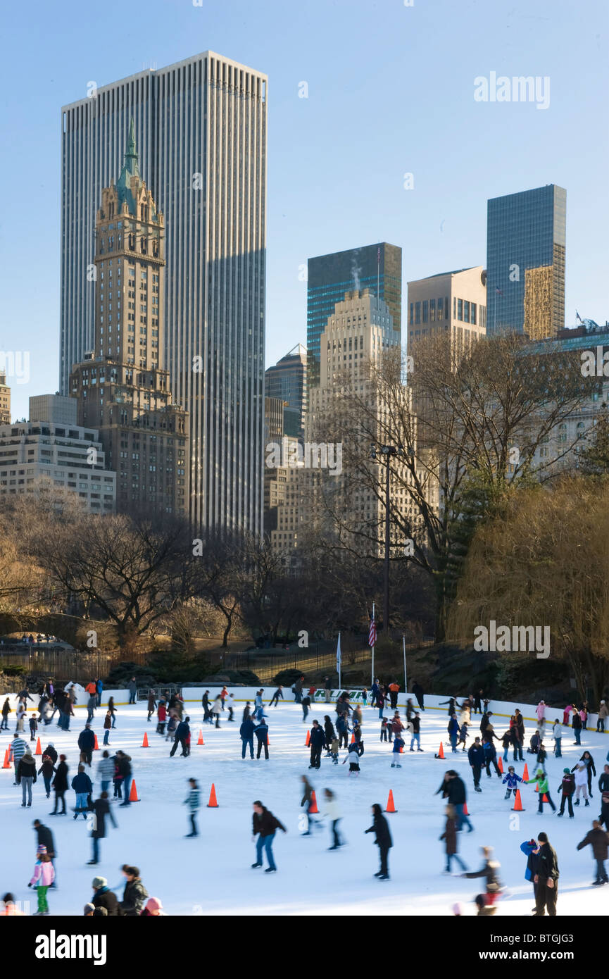 Skaters in Central Park, New York city Stock Photo