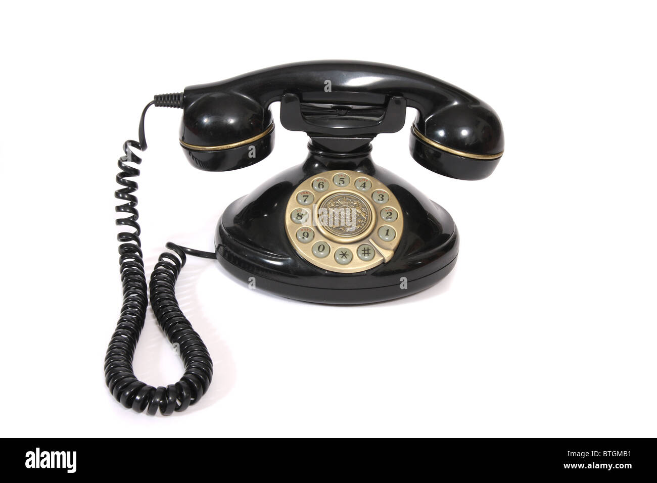 An old fashioned looking telephone. - Stock Image