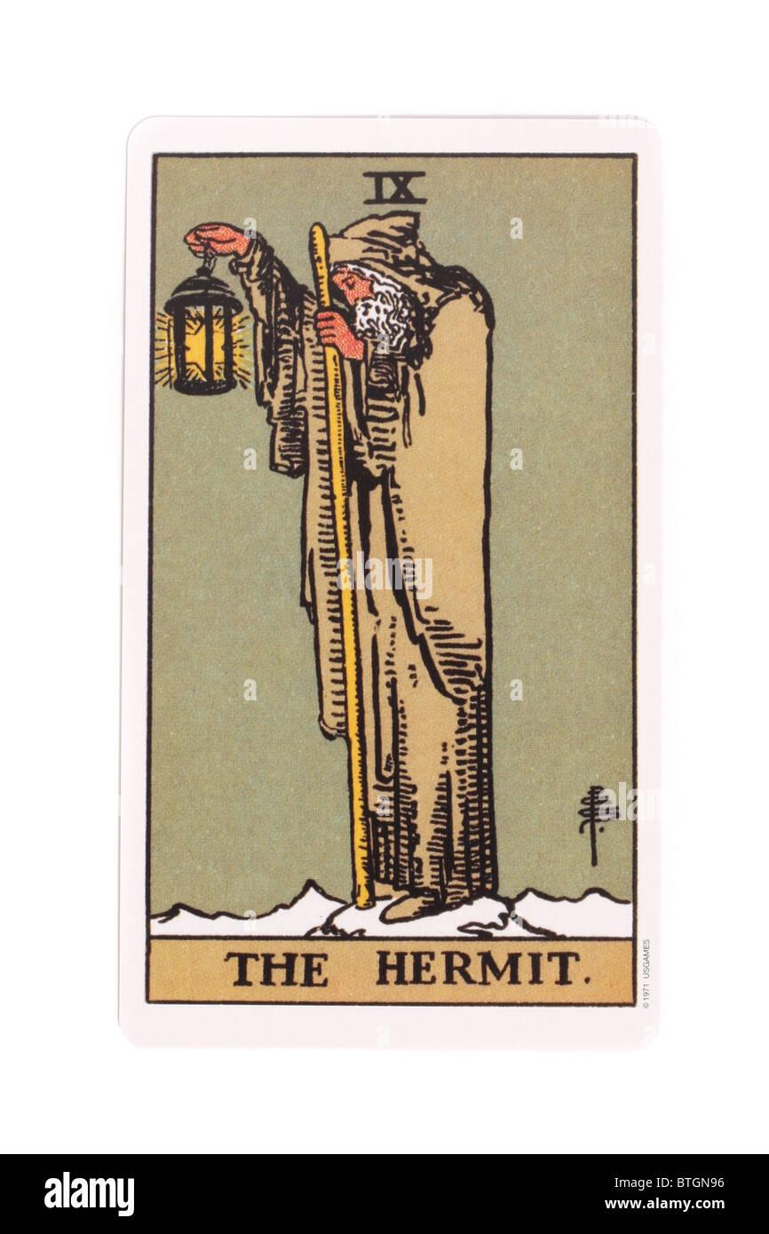 The Hermit Tarot Card Stock Photos & The Hermit Tarot Card