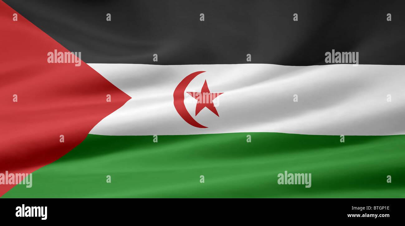 High resolution flag of Sahrawi Arab Democratic Republic - Stock Image