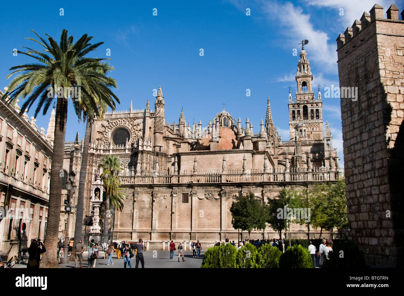 La Giralda Cathedral Seville Spain Andalusia - Stock Image