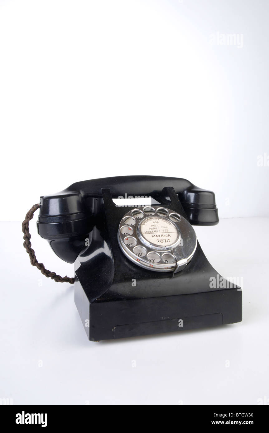 Bakelite phone - Stock Image
