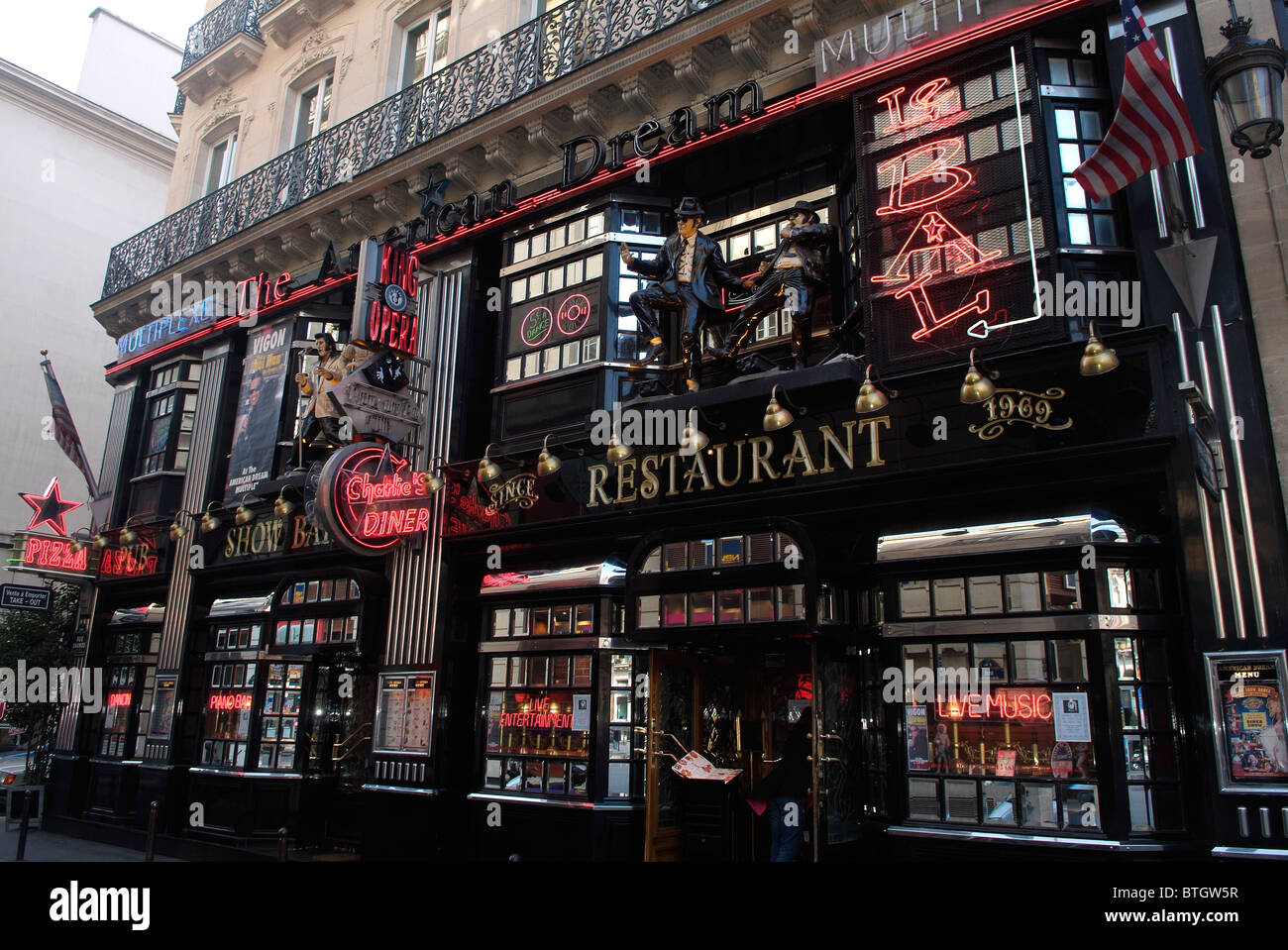 Front of the American Dream bar in Paris, capital of France Stock ...
